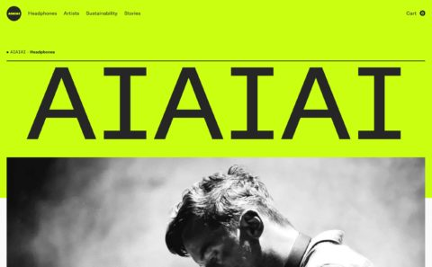 AIAIAI Audio | Trusted by artists all over the worldのWEBデザイン