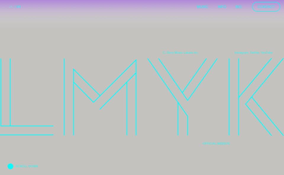 LMYK オフィシャルウェブサイト.のWEBデザイン