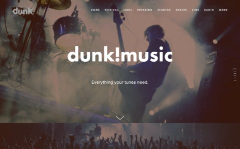 dunk!musicのWEBデザイン