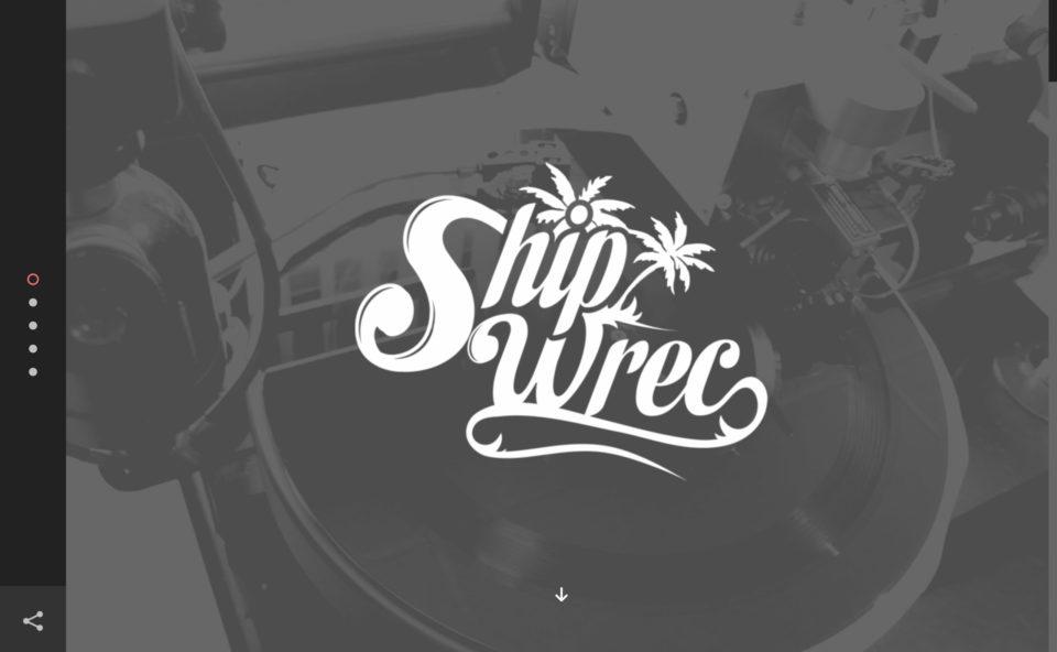 ShipwrecのWEBデザイン