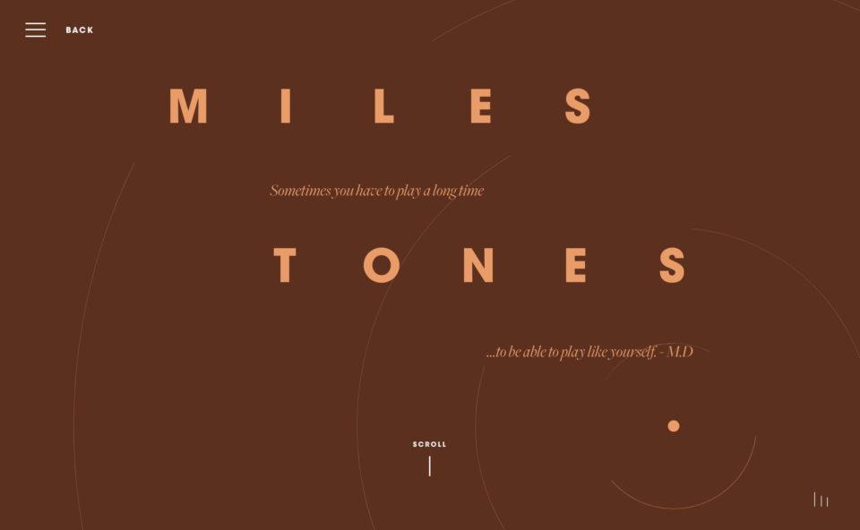 4 MILESのWEBデザイン