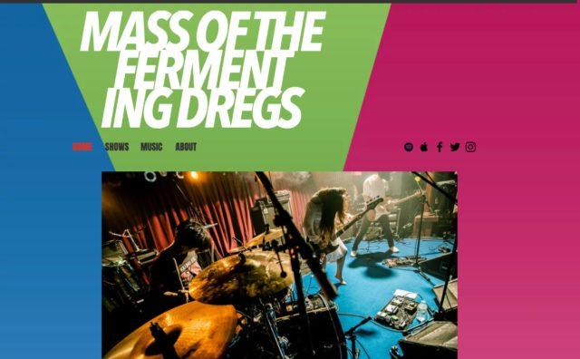 Home | Mass Of The Fermenting DregsのWEBデザイン