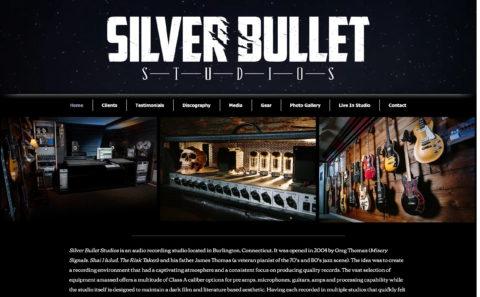 Silver Bullet StudiosのWEBデザイン