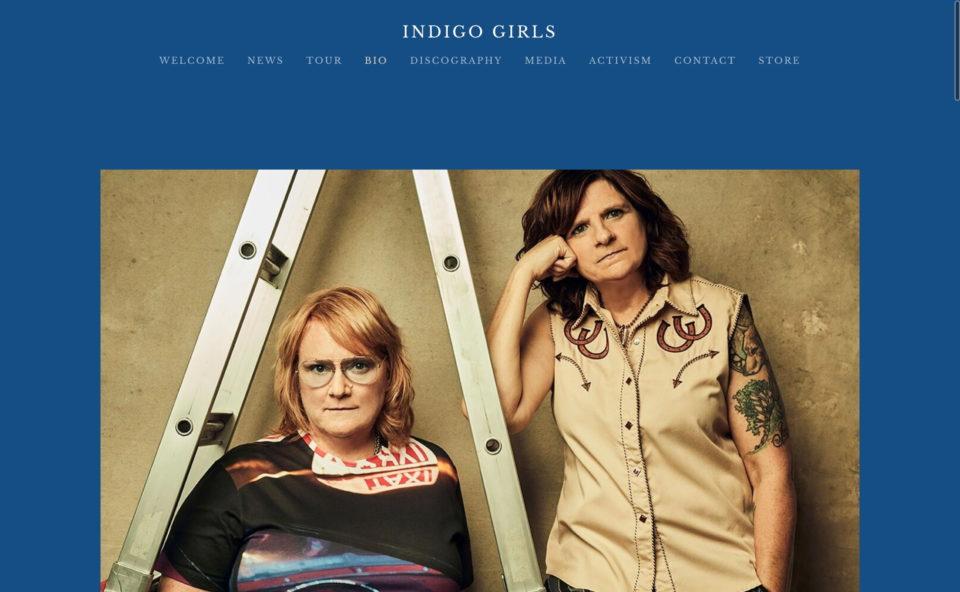 Indigo GirlsのWEBデザイン
