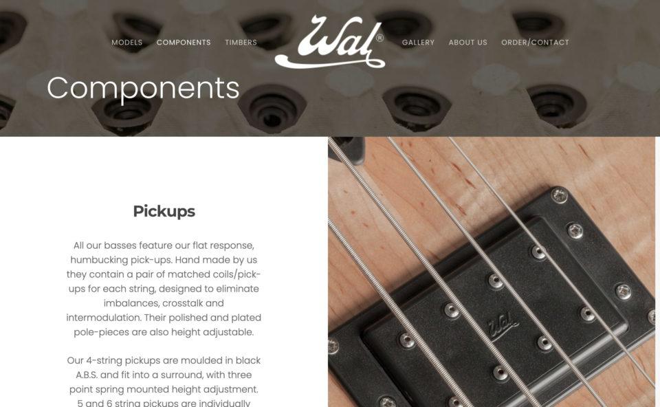 Wal BassesのWEBデザイン