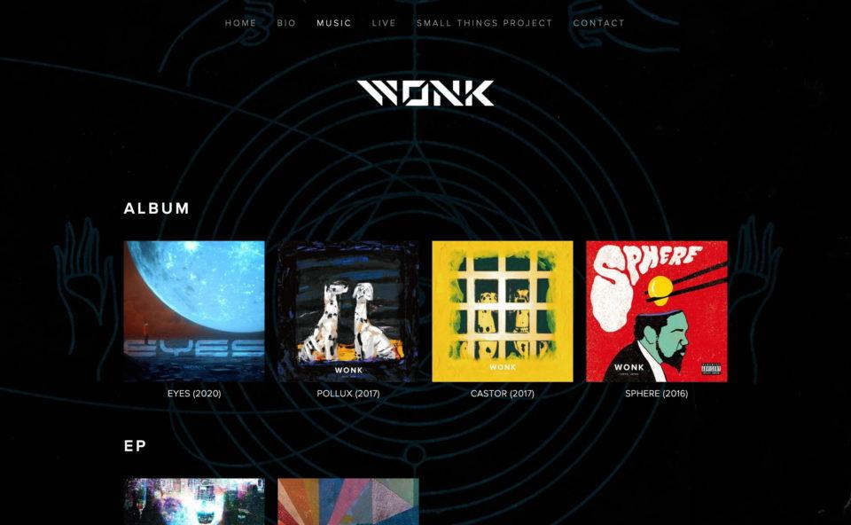 WONKのWEBデザイン