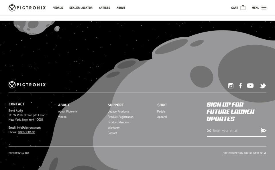 PigtronixのWEBデザイン