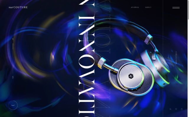 EarCOUTURE – Any good music must be an innovation.のWEBデザイン