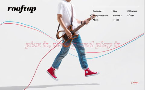 Rooftop Guitar WorksのWEBデザイン