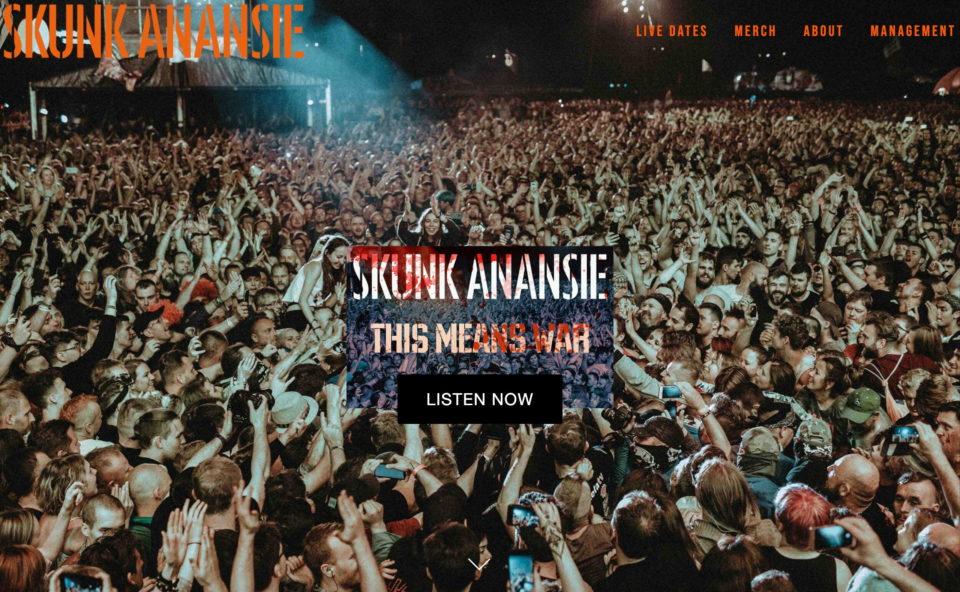 Skunk AnansieのWEBデザイン