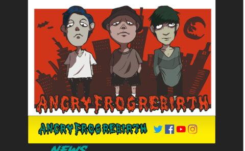 ANGRY FROG REBIRTHのWEBデザイン
