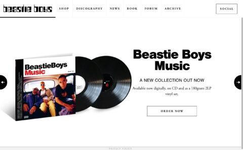 Home – Beastie Boys : Beastie BoysのWEBデザイン