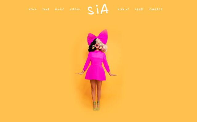 SiaのWEBデザイン