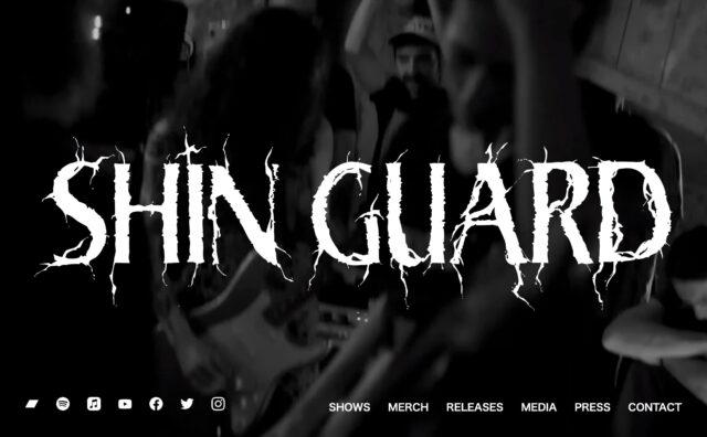 Shin GuardのWEBデザイン