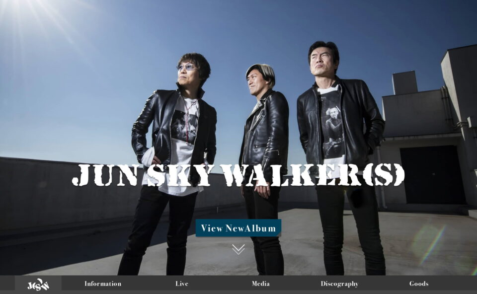 JUN SKY WALKER(S) Official websiteのWEBデザイン
