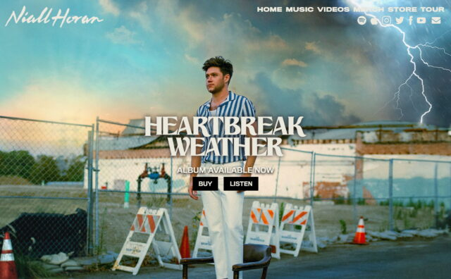 Home – Niall HoranのWEBデザイン