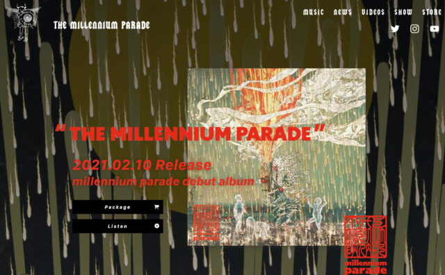 » THE MILLENNIUM PARADE|millennium parade Official websiteのWEBデザイン
