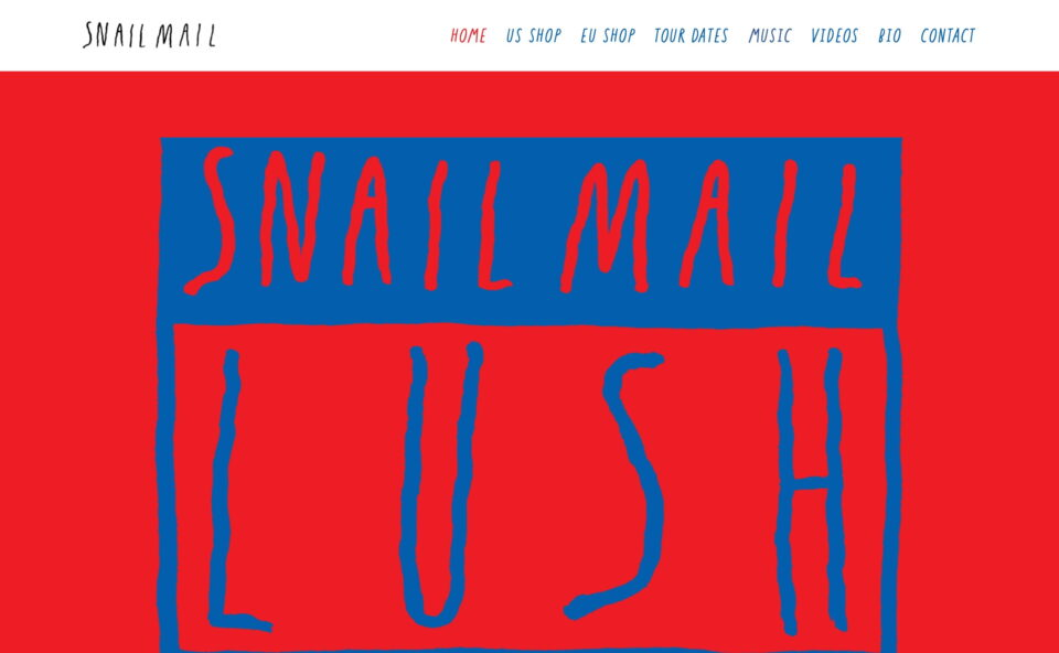 Snail MailのWEBデザイン