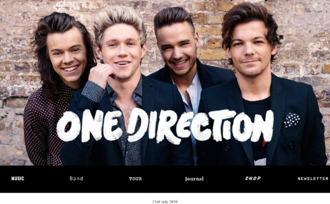 One Direction | The Official WebsiteのWEBデザイン