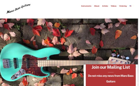 Marco Bass Guitars – Official Marco Bass Guitars WebsiteのWEBデザイン
