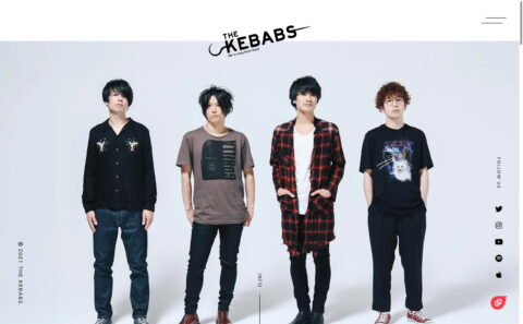 THE KEBABSのWEBデザイン