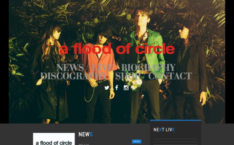 a flood of circle official webのWEBデザイン