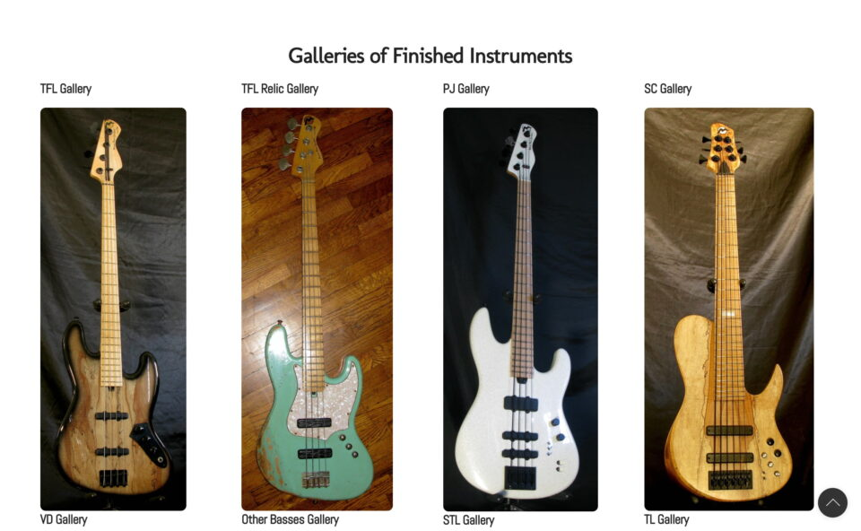 Marco Bass Guitars – Official Marco Bass Guitars WebsiteのWEBデザイン