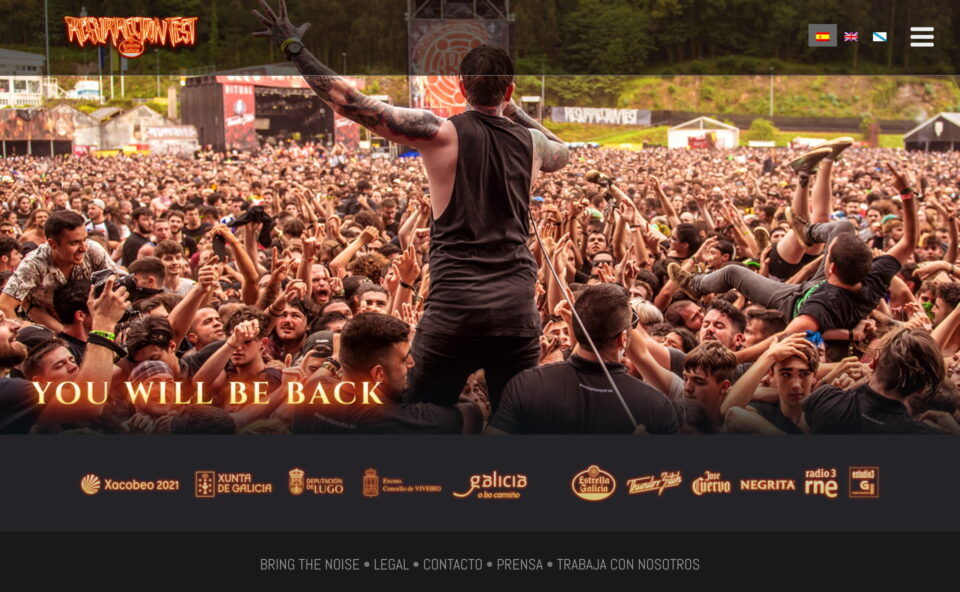 Resurrection Fest Estrella Galicia – Official website / Web oficial – Viveiro, Spain – 03-06/07/2019のWEBデザイン