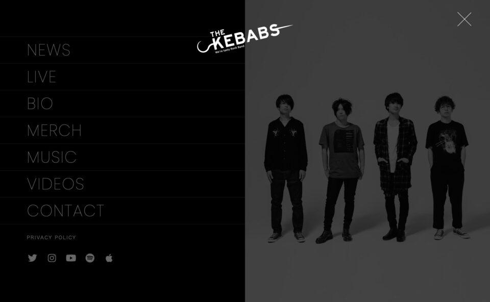 THE KEBABSのWEBデザイン