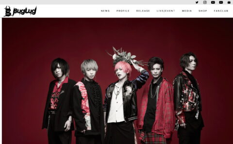 BugLug OFFICIAL WEBSITEのWEBデザイン