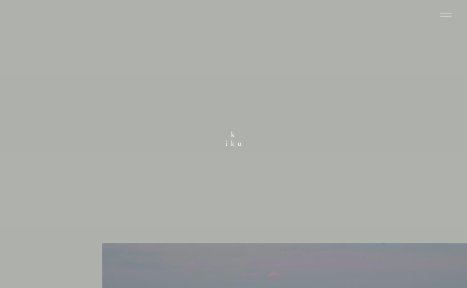 kiku labelのWEBデザイン