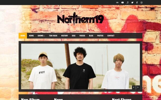 最新のライブ情報、リリース情報をチェック。– Northern19 Official Web SiteのWEBデザイン