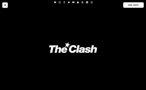 The Clash | Official WebsiteのWEBデザイン