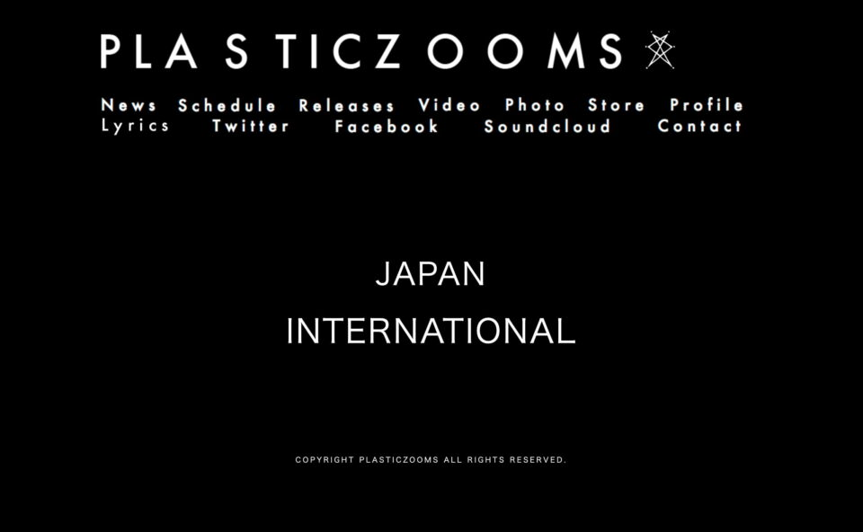 PLASTICZOOMS Official WebSiteのWEBデザイン