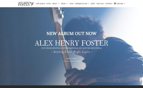 Alex Henry Foster & The Long ShadowsのWEBデザイン