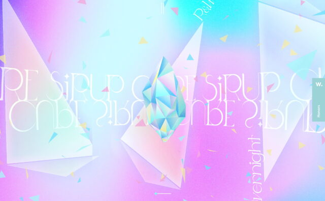 SIRUP – cure – Playlist SiteのWEBデザイン