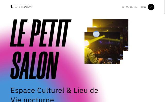 Espace culturel et lieu de vie nocturne à Lyon | Le Petit SalonのWEBデザイン