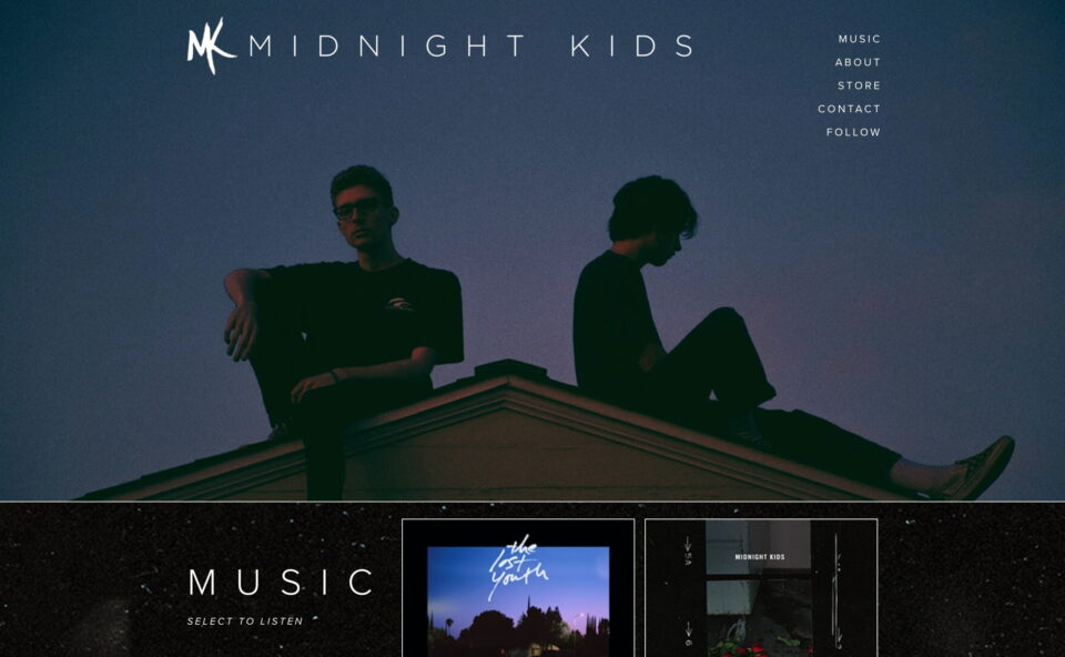 Midnight Kids – Official WebsiteのWEBデザイン