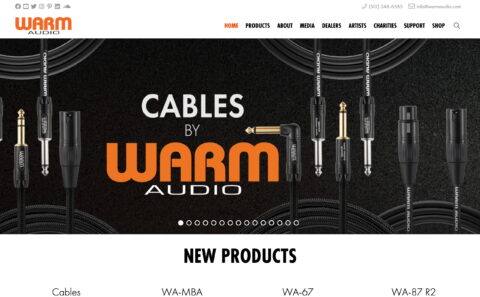 Warm Audio | Serious Gear . Seriously AffordableのWEBデザイン