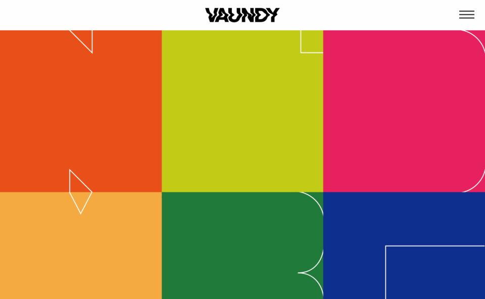Vaundy Official WebsiteのWEBデザイン