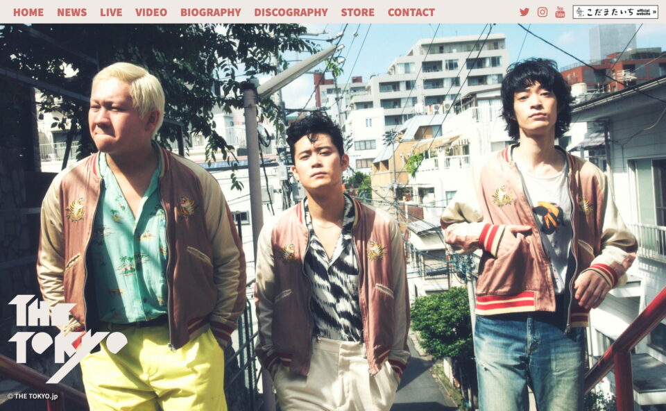 THE TOKYO / ザトーキョー Official WebSite. |のWEBデザイン