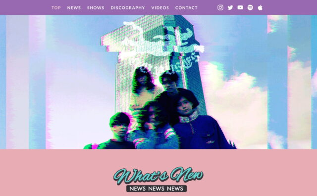No Buses – Official WebsiteのWEBデザイン