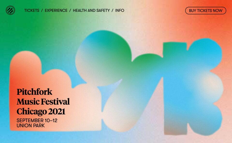Pitchfork Music Festival Chicago 2021 | Pitchfork Music Festival 2021のWEBデザイン