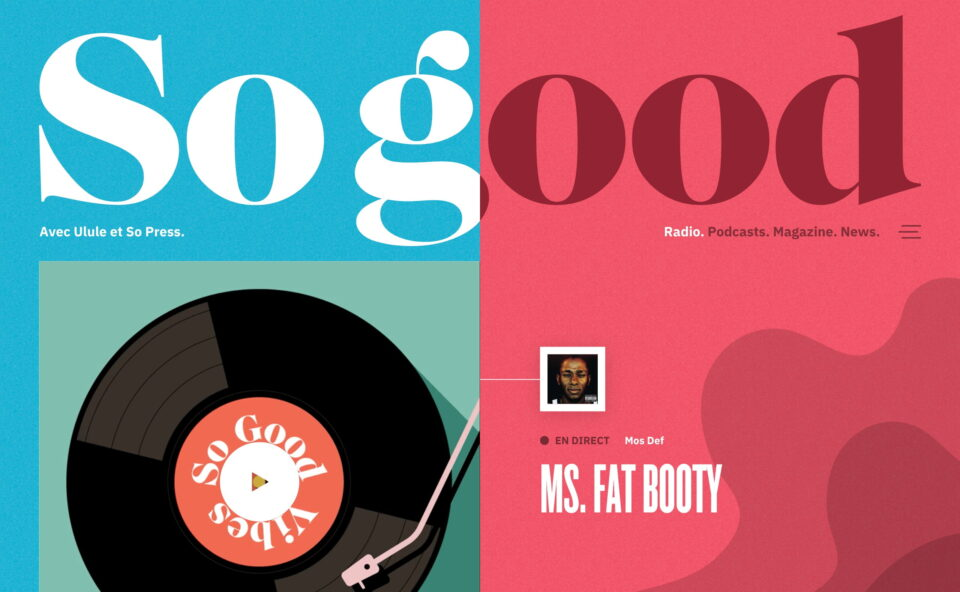 So good avec Ulule et So Press | Podcast, Radio & MagazineのWEBデザイン
