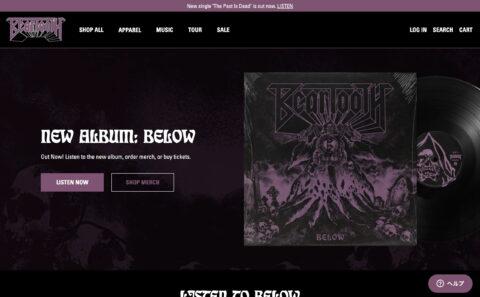 "Beartooth Official Website | New Album ""Below"" Out Now | beartoothmerchandiseのWEBデザイン"