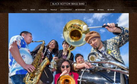 BLACK BOTTOM BRASS BAND|OFFICIAL WEB SITE | BLACK BOTTOM BRASS BAND(ブラック・ボトム・ブラス・バンド)オフィシャル ウェブサイトのWEBデザイン