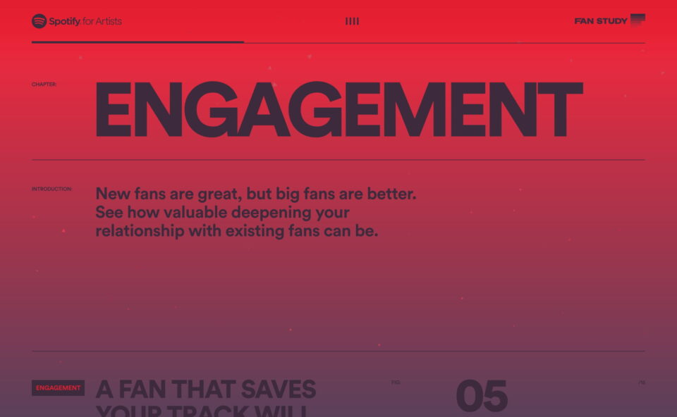 Fan Study   Spotify for ArtistsのWEBデザイン