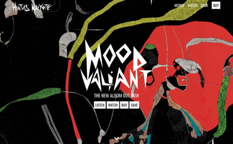 Hiatus Kaiyote – Mood ValiantのWEBデザイン