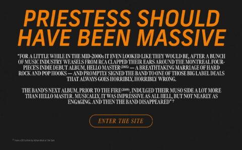 Priestess | What Happened?のWEBデザイン