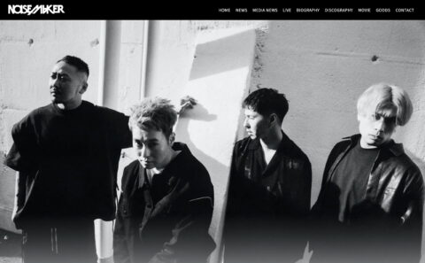 NOISEMAKER official websiteのWEBデザイン